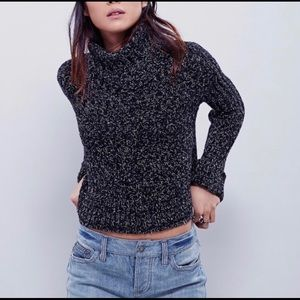 Free People Twisted Cable Turtleneck Sweater NWOT